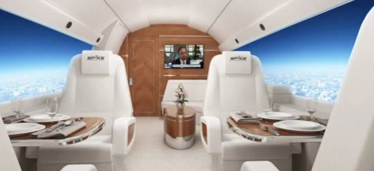 inside the new supersonic jet