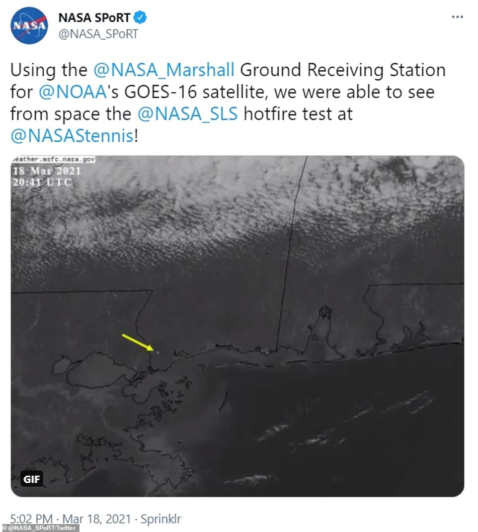 The milestone event was captured by NASA satellites orbiting in space