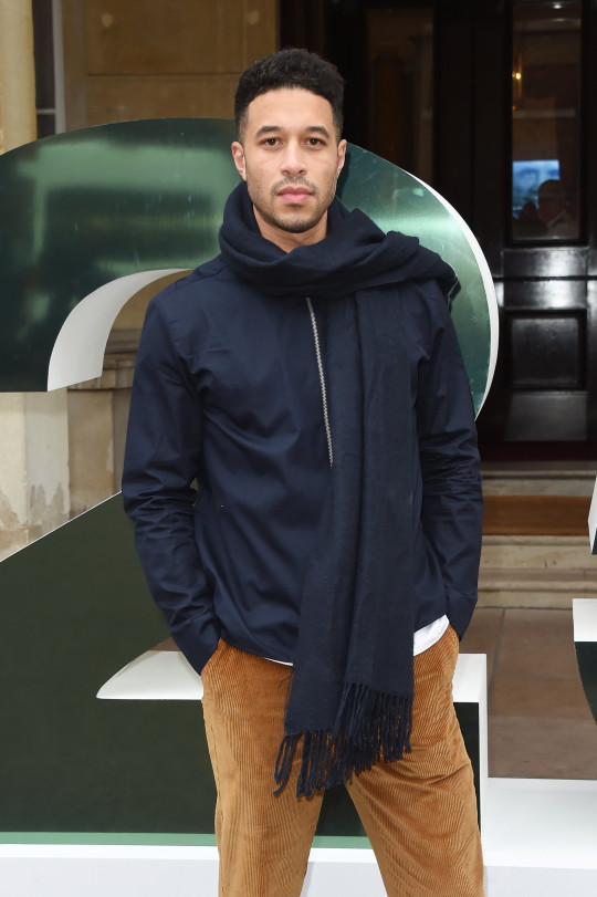 Melvo Baptiste attends the Barbour presentation during London Fashion Week Men's January 2019 at Lancaster House on January 7, 2019 in London, England.