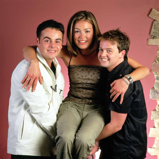 Ant and Dec with Cat Deeley  - 2001