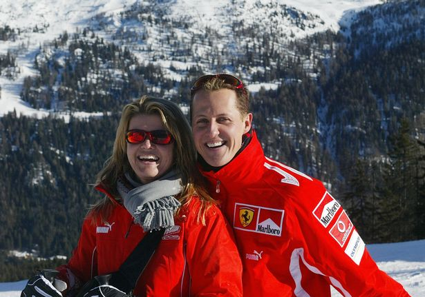 Michael Schumacher poses with his wife Corinna