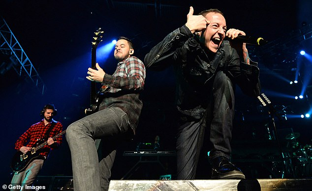 Sudden occurrence: Bennington died by suicide in July of 2017, just months after Linkin Park released their seventh studio album; the singer is seen performing in 2014