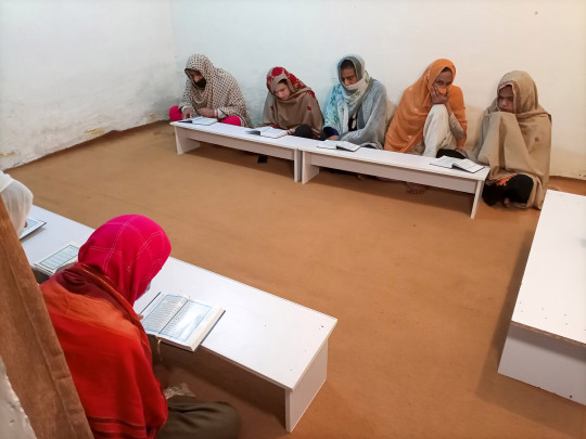 A group of transgender women learn the Koran at Pakistan's first transgender only madrasa or a religious school in Islamabad, Pakistan