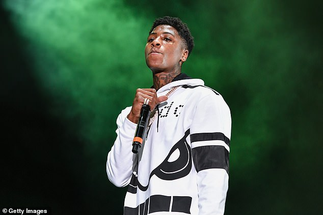 Tough times:TMZ reported on Monday that the FBI and police attempted to pull the 21-year-old rapper - born Kentrell DeSean Gaulden- over because he had an outstanding federal warrant, as the rapper is sen in August 2018