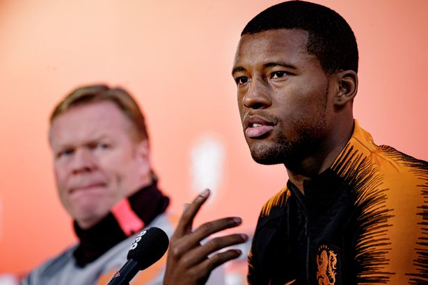 Koeman and Wijnaldum have worked together at national level (Photo by Eric Verhoeven/Soccrates/Getty Images)