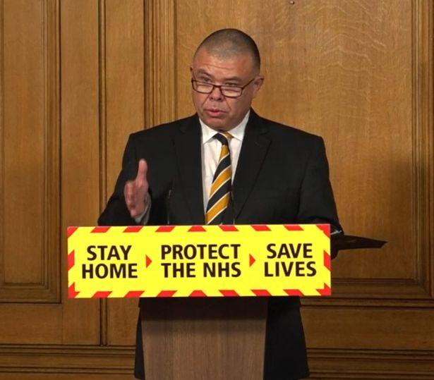 Professor Jonathan Van-Tam at a Downing Street press conference