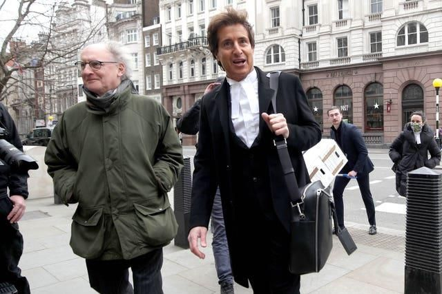 Johnny Depp's barrister, David Sherborne (right) arrives at the Royal Courts of Justice