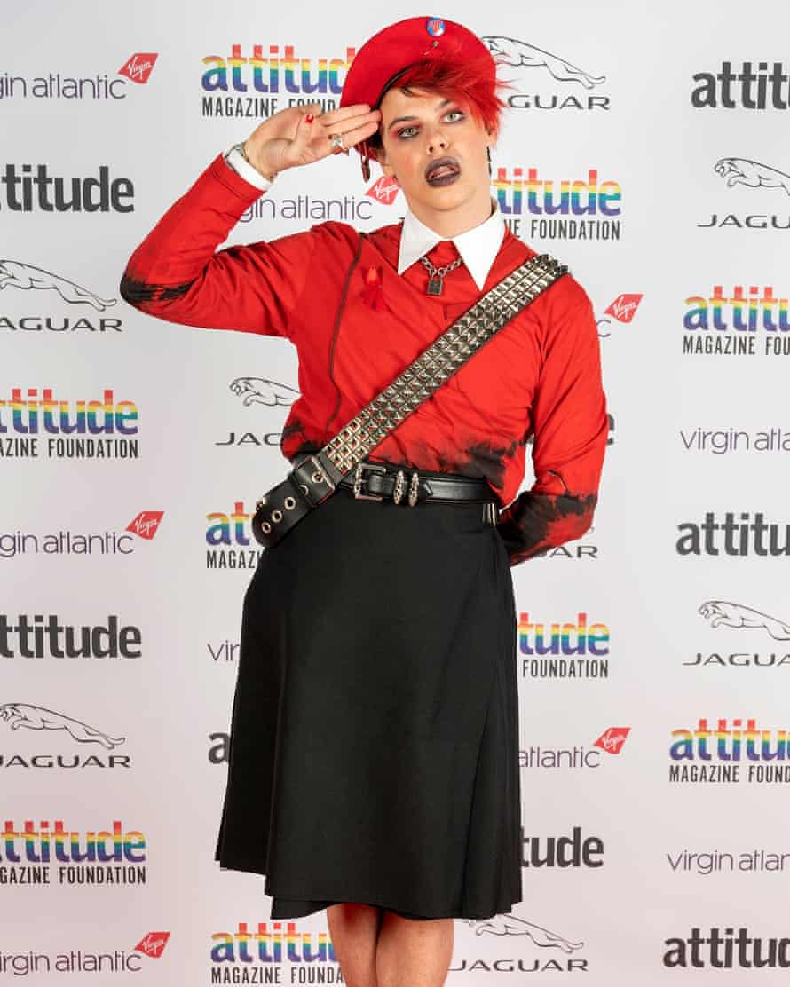 Yungblud poses on the red carpet during the Virgin Atlantic Attitude awards in London last December