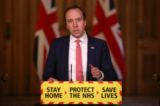 Health Secretary Matt Hancock during a media briefing in Downing Street, London, on coronavirus (Covid-19). Picture date: Friday March 5, 2021. PA Photo. See PA story HEALTH Coronavirus. Photo credit should read: Dan Kitwood/PA Wire