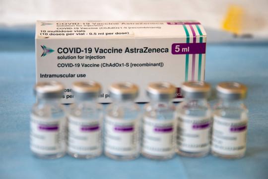 An AstraZeneca vaccine kit.