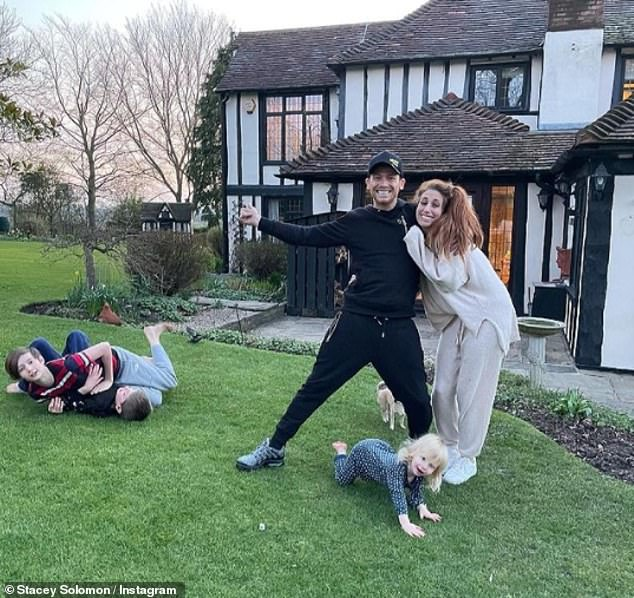 Fresh start: The Loose Women panellist recently moved into the Essex pad with fiancé Joe Swash, 39, and her three sons Zachary, 13, and Leighton, eight, and Rex, 22 months