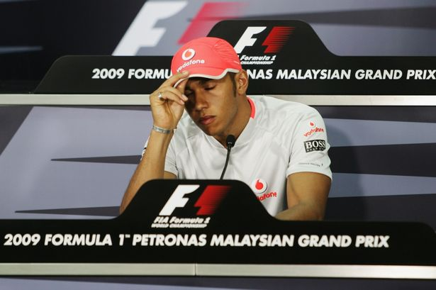 Lewis Hamilton was disqualified from the 2009 Malaysian Grand Prix