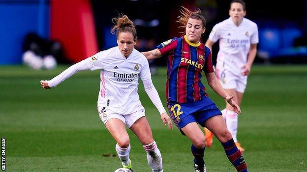 Real Madrid women against Barcelona