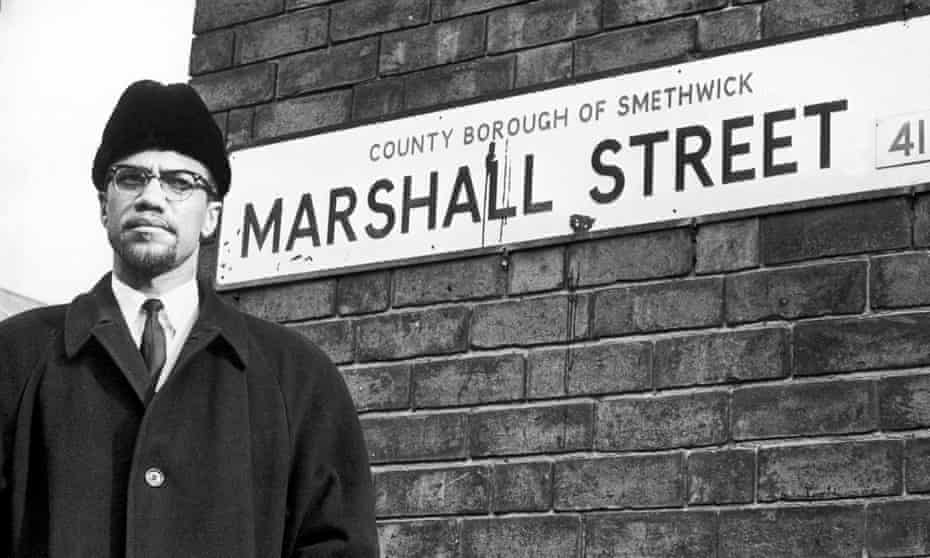 Malcolm X visited Smethwick in 1965 to highlight local racial discrimination.