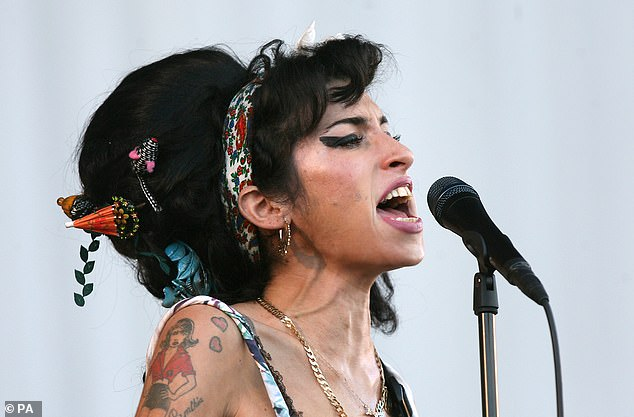 Icon:The Back To Black singer tragically passed away aged 27 on the 23 July in 2011 after being found dead in her bed due to alcohol poisoning (pictured in 2008)