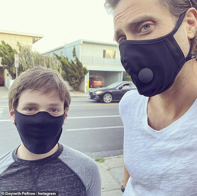 Step-parenting:Before recalling the perplexities of early step-parenting, Gwyneth described her stepchildren, daughter Isabella and son Brody, as 'beautiful' and being 'the same age as [her kids]' Moses and Brad pictured