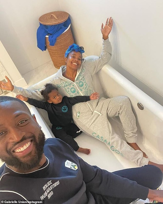 Blended:Meanwhile, Gabrielle welcomed her first and only child, daughter Kaavia James, with husband and NBA star Dwyane Wade in 2018