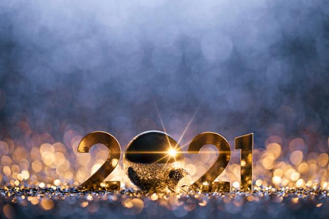 New Year Christmas Decoration 2021 - Gold Blue Party Celebration