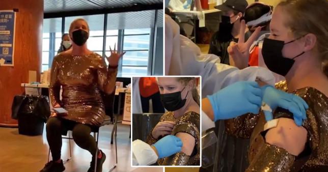 Amy Schumer gets coronavirus vaccine