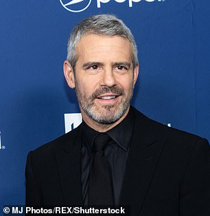 'Keep talking': Andy Cohen (pictured) has weighed in on Sharon Osborne's 'Megan Markle race row' which saw her CBS program The Talk temporarily taken off-air
