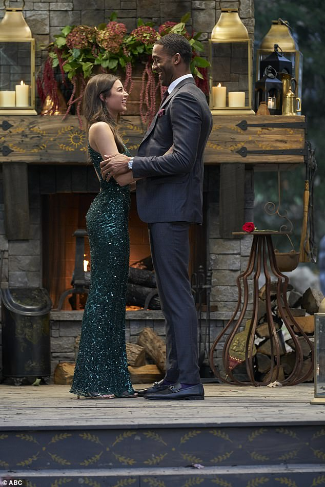 No happy ending: Matt James chose Rachael Kirkconnell to be his partner (but opted not to propose) during the finale of The Bachelor on Monday night and fans were not too pleased after her racially insensitive photos were released on social media