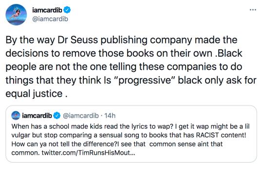 Cardi B tweets defending WAP