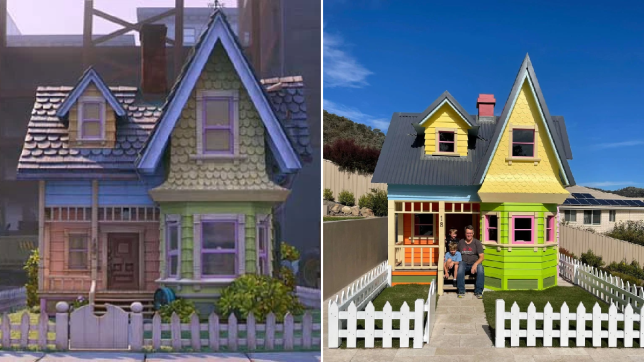 The original house in Up, and the replica play house