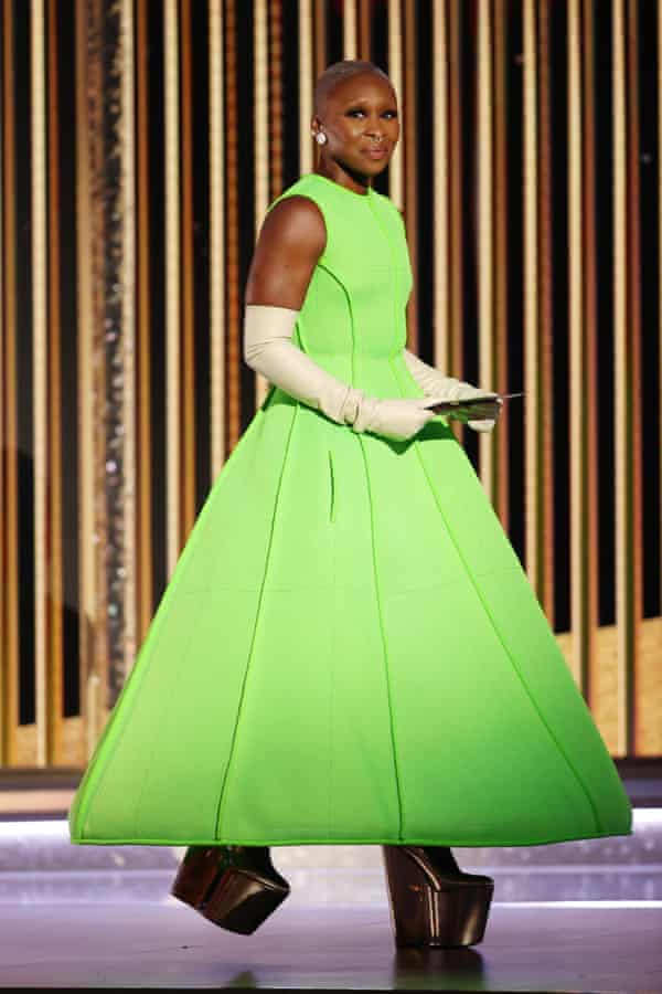 Exceptional ... Cynthia Erivo at the Golden Globes in Beverly Hills, California.