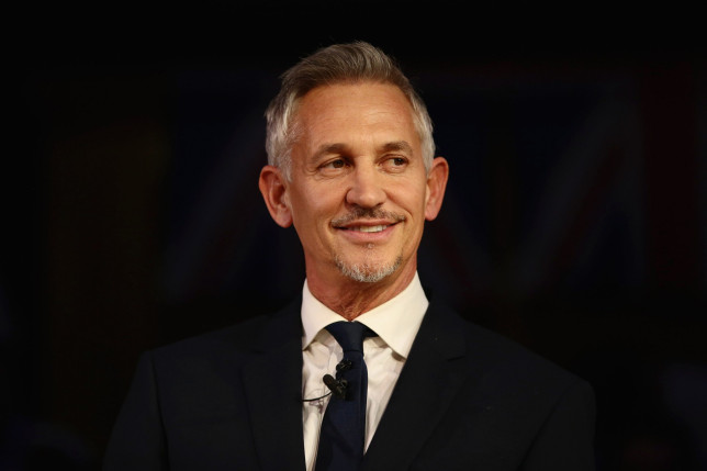 Gary Lineker speaks during a pro-remain Brexit rally