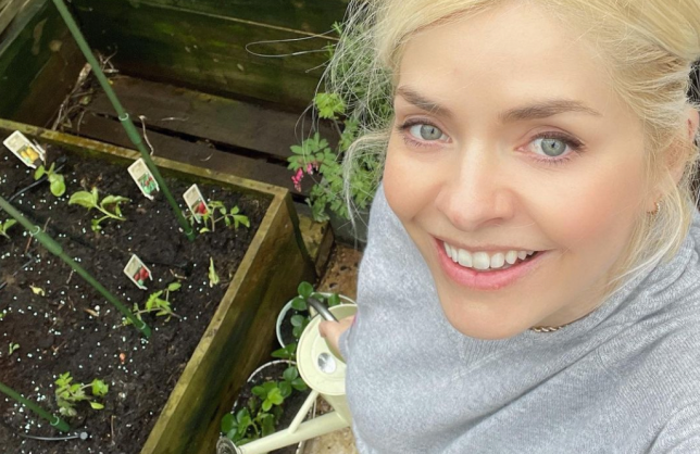 Holly Willoughby gardening