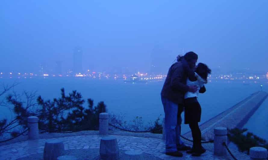 Charles and Yidi in Qingdao in November 2004