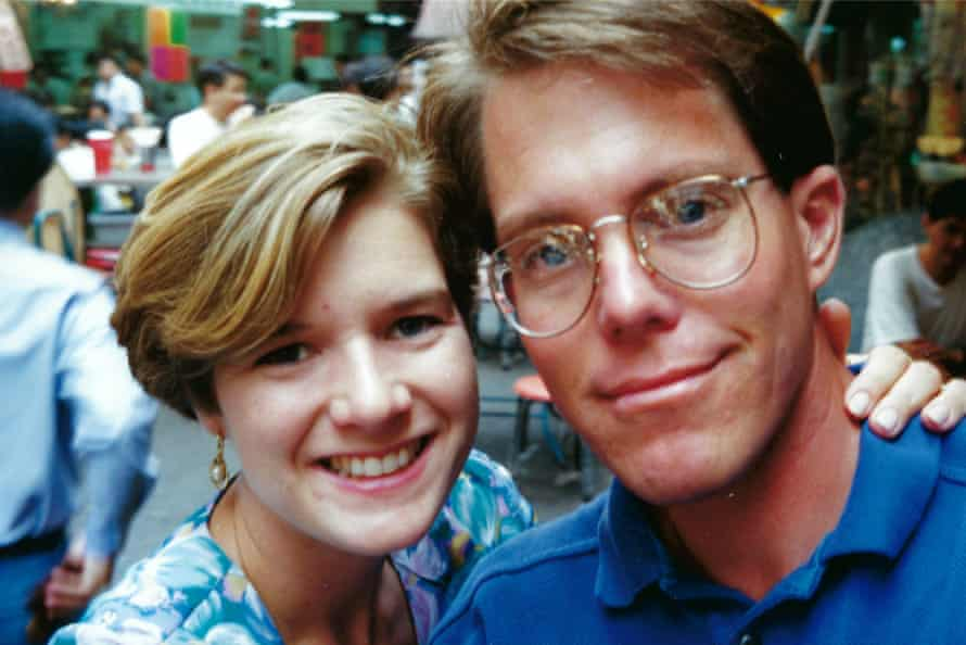 Amy and Richard on their honeymoon in Hong Kong in 1992.