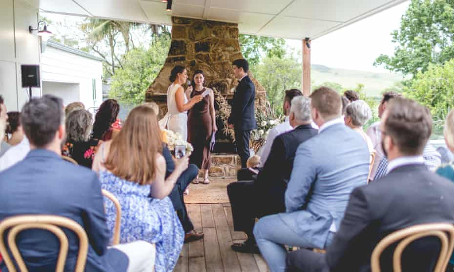 Catherine Winner and Mitchell Simpson cut their wedding guest list from 130 to 30