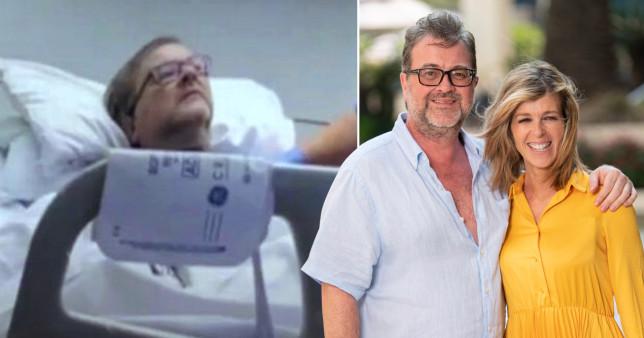 Kate Garraway with husband Derek Draper in hospital