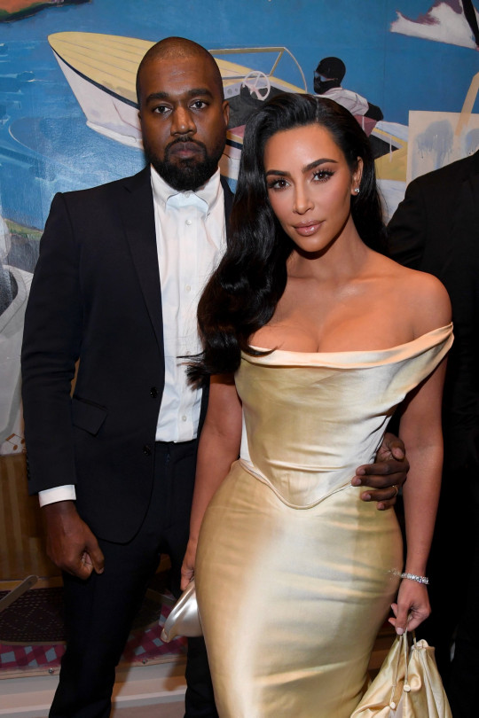 LOS ANGELES, CALIFORNIA - DECEMBER 14: (L-R) Kanye West and Kim Kardashian West attend Sean Combs 50th Birthday Bash presented by Ciroc Vodka on December 14, 2019 in Los Angeles, California. (Photo by Kevin Mazur/Getty Images for Sean Combs)