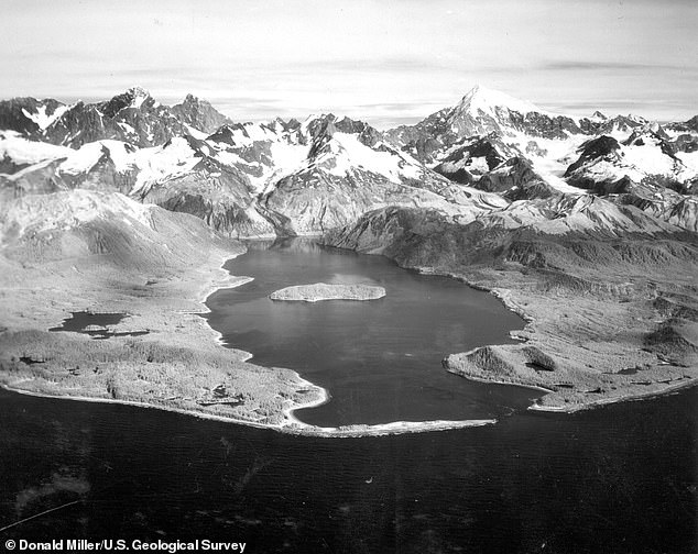 Alaska's melting glaciers may have set the stage for a magnitude 7.8 earthquake in 1958 (pictured) that triggered a massive avalanche of about 90 million tons of rock down into the narrow inlet of Lituya Bay