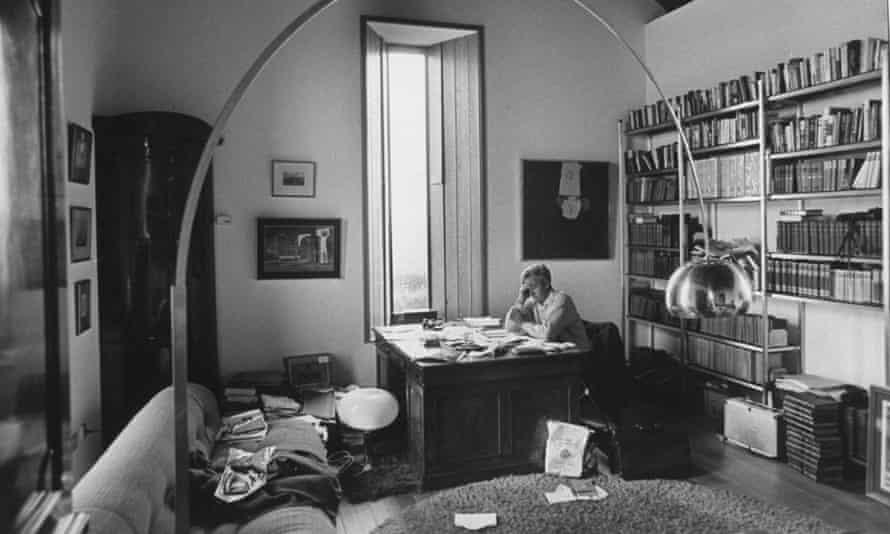 David Cornwell at his desk at home in 1974.