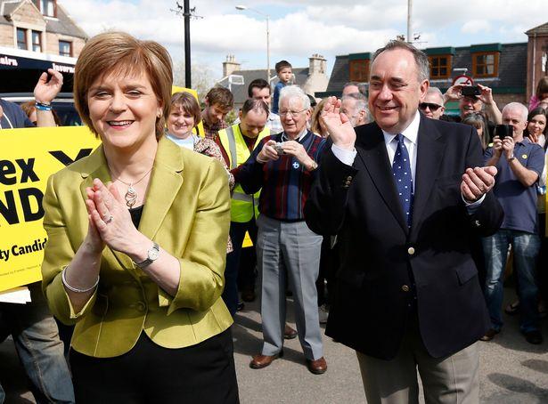 Nicola Sturgeon and Alex Salmond were once close allies