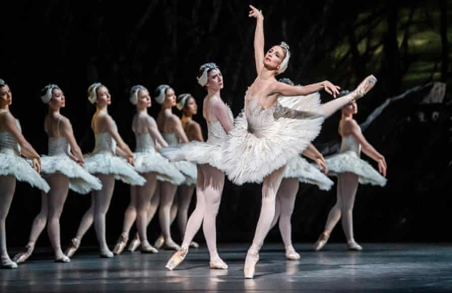Lauren Cuthberton in Swan Lake by the Royal Ballet in March 2020.