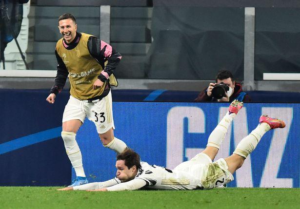 Chiesa celebrates his second goal
