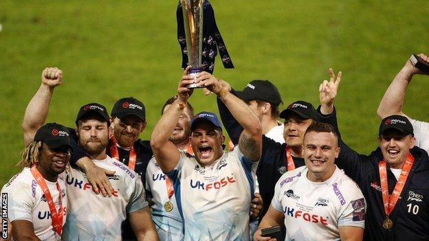 Sale Sharks lift the Premiership Cup