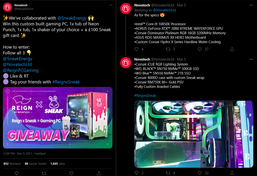 Press Release: Reign by Novatech and Sneak Energy's Neon Punch collide in exquisite custom gaming PC