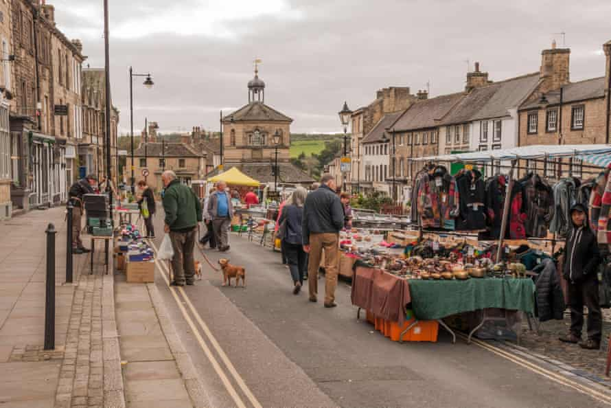 Market day at Barnard Castle in County Durham.