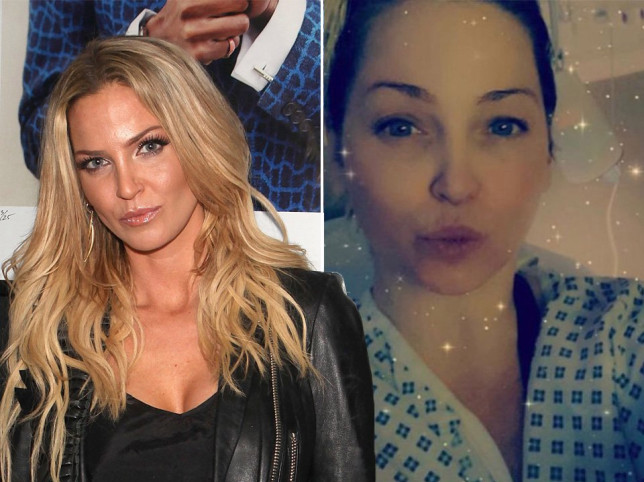 Sharing some positive news, Sarah Harding has revealed that her tumours have shrunk (Picture: Getty)