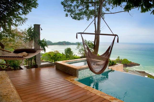 Hammock and pool in Costa Rica