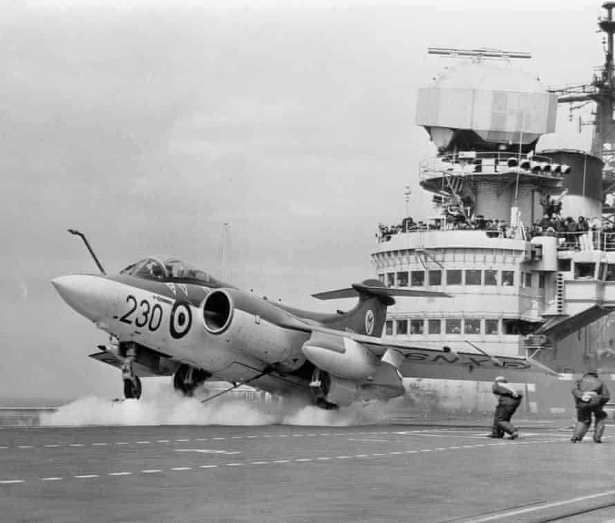 Buccaneer jet bombers operating from HMS Victorious in the mid-1960s.