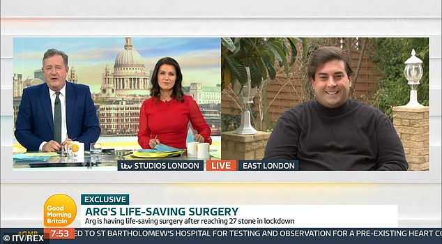Making a change: The former TOWIE star, 33, vowed to 'tackle this now before it's too late' as he appeared on Good Morning Britain on Tuesday morning