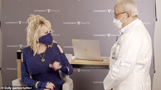 The vaccine was was administered by Parton's friend Dr. Naji Abumrad, a physician at the center who she befriended in October 2013 after he treated her following a car crash