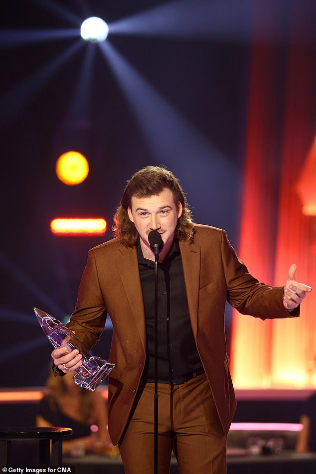 Not this year: The ACM Awards banned Wallen from appearing on the telecast and disqualified him from being nominated for any awards; seen in November 2020