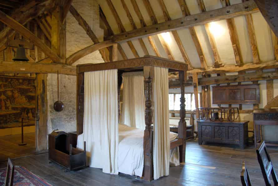 The high-beamed bedroom in Anne of Cleves House, Lewes.